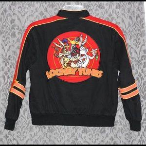 Vintage 90s Looney Tunes Denim biker jacket